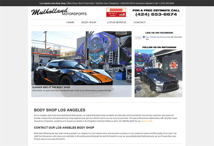 Los Angeles Auto Body Shop SEO